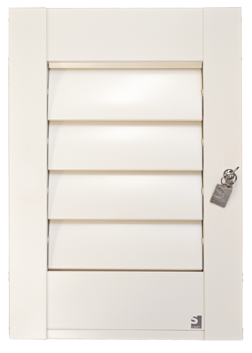 window shutters with lock with no background
