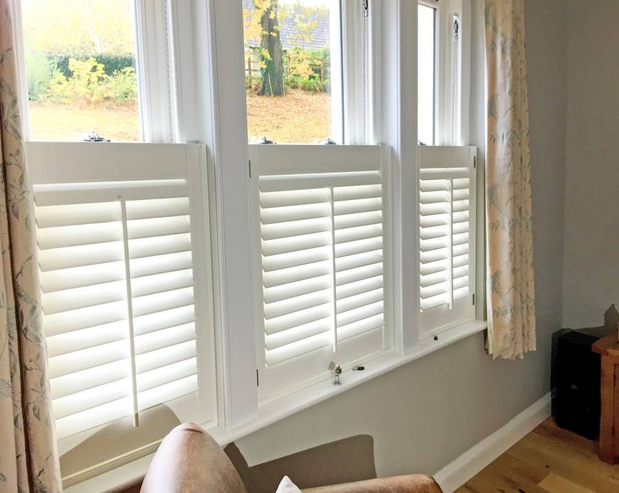 Cafe Style half shutters Fitted by the shutter company Newport