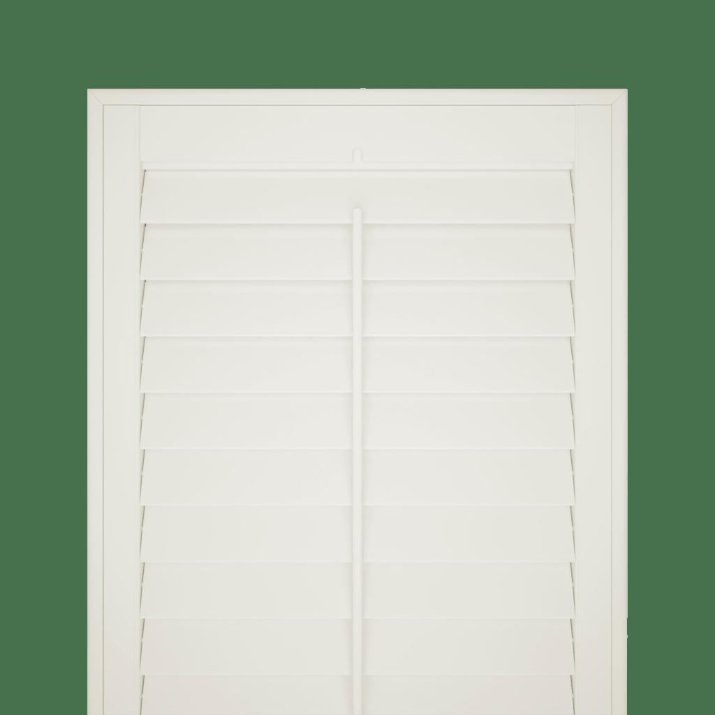 silk white shutter blind no background