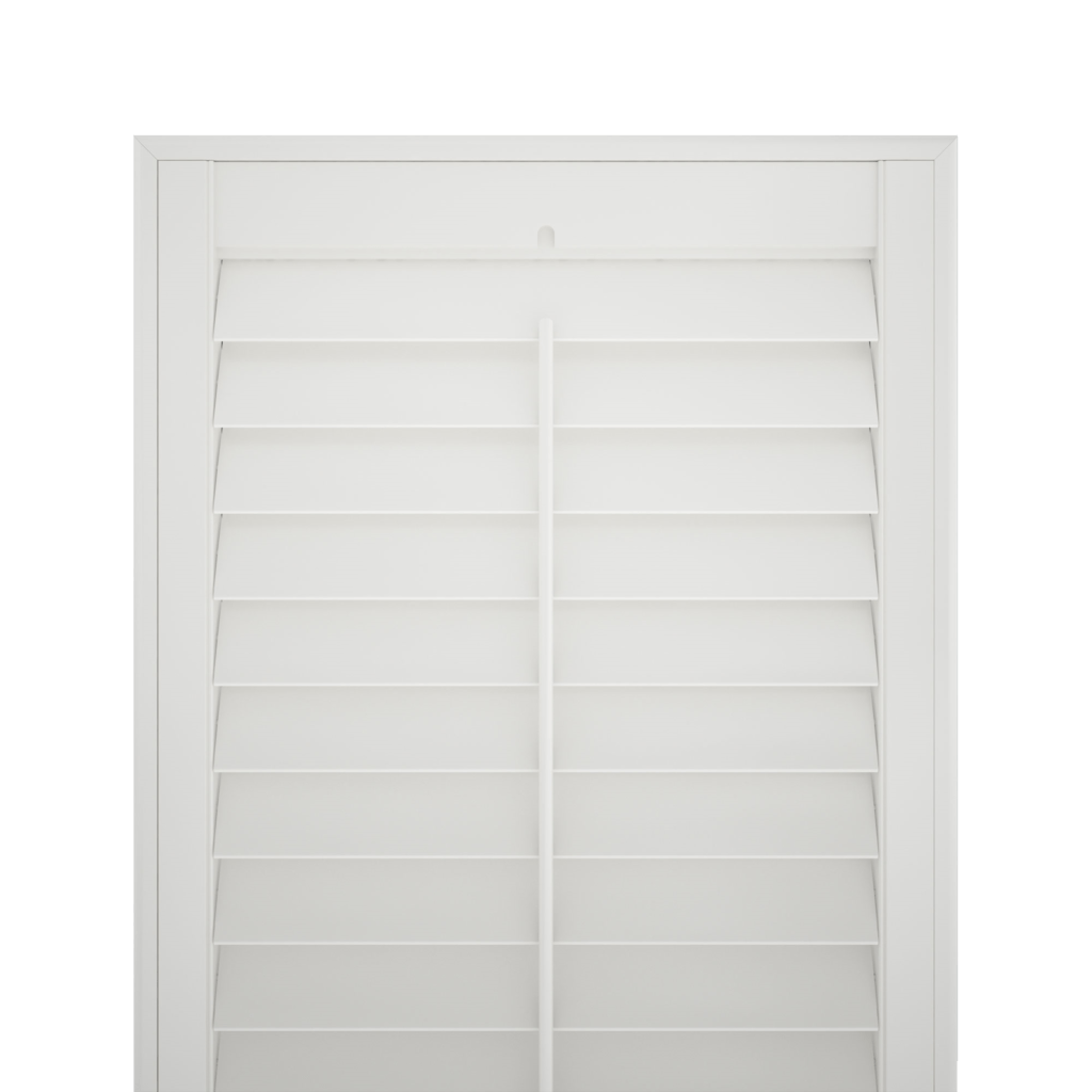 white shutter blind no background