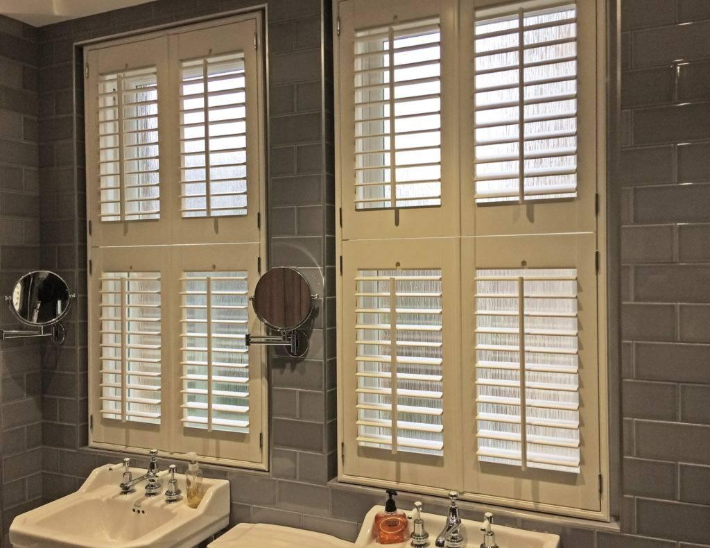 inside shutter blind bathroom