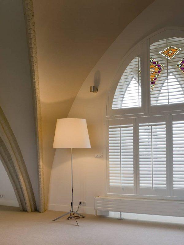 luxury Arche white church window shutters