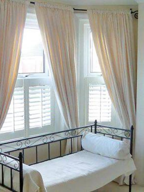 half window shutters for bedroom - Fitted by the shutter company Newport