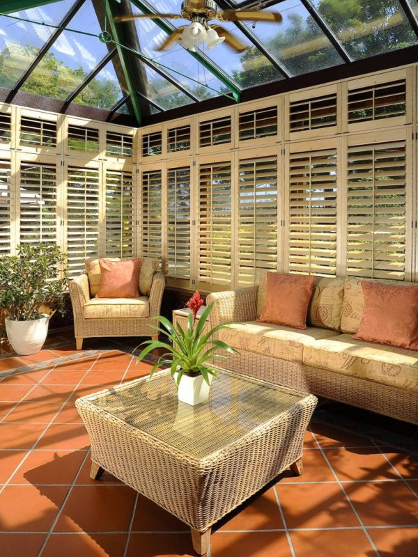 Full Conservatory Shutters Fitted by the shutter company Newport