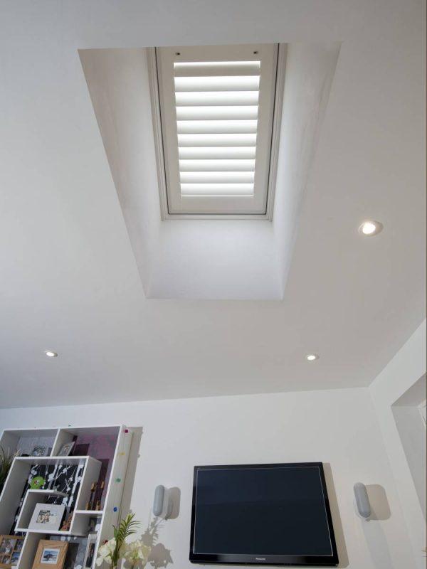 sky light loft window shutter blinds