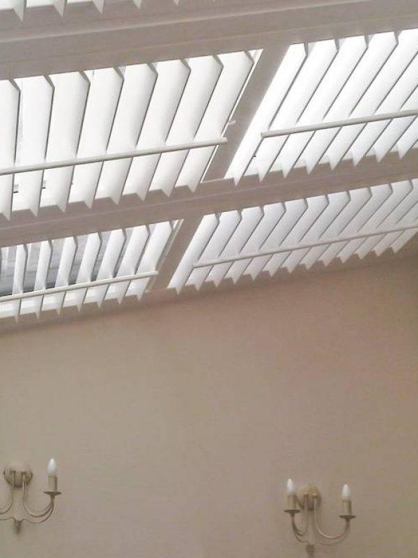 ceiling white shutter blind