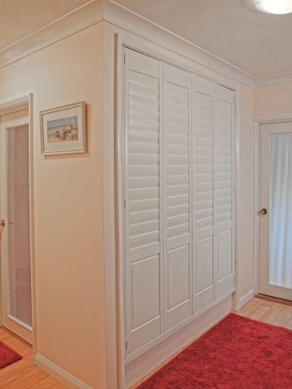 white door shutters Newport