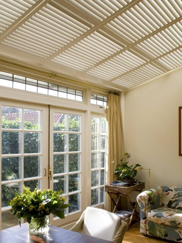 ceiling shutters Fitted by the shutter company Newport